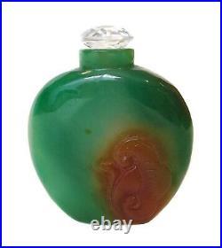 IMPERIAL Green JADEITE Snuff BOTTLE