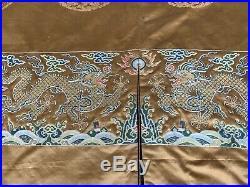 Imperial 18th Century Dragon Robe Kangxi Period Brocade Nanjing Fine Dragons