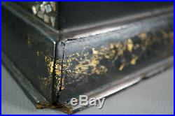 Imperial China Qing Dynasty Chinoiserie Vanity Case Trinket Drawer Lacquer Box