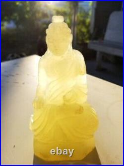 Imperial Jade Mutton Fat Carved Buddha Marked