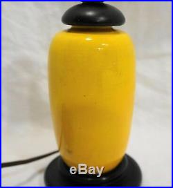 Imperial Yellow 19th Century Chinese Porcelain Jar Lamp