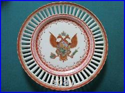 Imperial coat-of-arms, RUSSIA 18TH C double-headed eagle Chinese porcelain PLATE