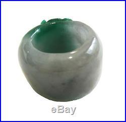 Jadeite Imperial Green Thumb Archer Ring Translucent