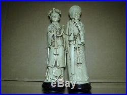 LARGE 1800s Antique Imperial Sculpture figures Chinese Hand Carved Bovine