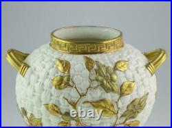 Large Antique 19th Century Royal Worcester Porcelain Aesthetic Vase 1884