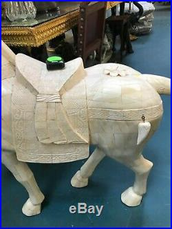 Large Hand-Carved Imperial Horse Statue