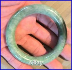 Natural OLD Antique Burmese Imperial Emerald Green Grade A Jade Bangle Bracelet