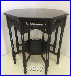 Octagonal Chinese Chippendale Style Mahogany Table with Royal Provenance c. 1900