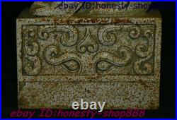 Old Chinese Stone Carving Pi xiu Unicorn Beast imperial Seal Stamp Signet Statue