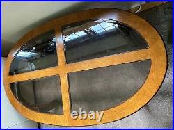 Oriental Imperial Dynasty Chinese mahogany oval coffee table burr ash (walnut)