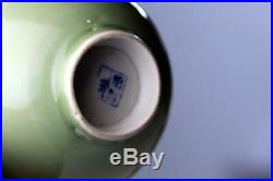 Pair Imperial Chinese Porcelain Celadon Bowls Ming Blue Makers Marks