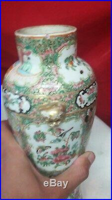 Pair of Early 19th Century Royal Canton Chinese Vases