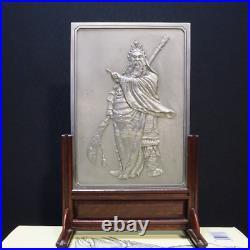 Pewter plaque of GUAN GONG warrior God of Wealth Royal Selangor