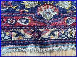 RARE Antique 19th Century Imperial Lotus Foliage Silk Oriental Carpet Area Rug