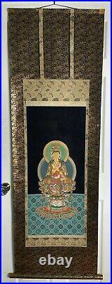 RARE Antique IMPERIAL Scroll Buddhist Amitabha Buddha MUSEUM MASTERPIECE