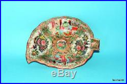 Rare Antique Imperial Chinese Porcelain Canton Rose Medallion Dish Plate