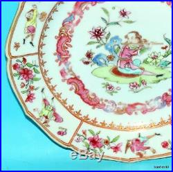 Rare Antique Imperial Yongzheng Extremely Famille Rose Chinese Porcelain Plate