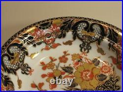 Rare Antique Royal Crown Derby Chinese Crown'imari' Muffin Dish & LID C. 1889