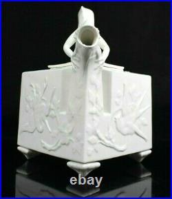 Rare Antique Royal Worcester Chinese Dragon Aesthetic Teapot Blanc De Chine 1872