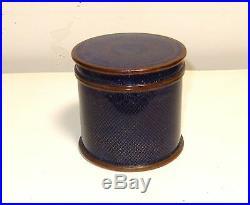 Rare Old Royal Blue Cloisonne Enamel Jar Canister Humidor Box