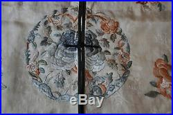 Robe Soie Ancien Antique Chinese Court Dress Imperial Embroidered Silk Ca 1880
