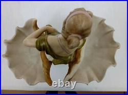 Royal Dux Art Nouveau Figurine of a Woman in a Seashell