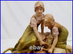 Royal Dux Art Nouveau Figurine of women at the well
