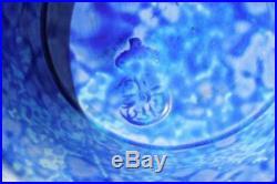 Royal Worcester 12 Beautiful Blue Glazed Chinese Dragon Aesthetic Movement Vase