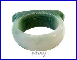 SADDLE Ring IMPERIAL Green Jadeite CHINESE