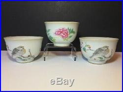 Set of 3 Antique Chinese Rice BowlCup Ming Dao Shangpin Imperial Kiln