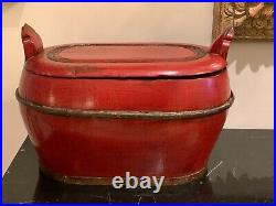 Superb Antique Chinese Imperial Storage Box with Jian Ding Export Seal
