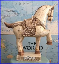 Tang Dynasty Imperial War Horse Statue, Hand Carved, Detailed, BIG 16 High