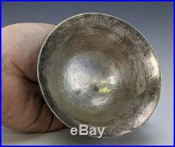 Unique Antique Old Chinese Tibetan Imperial Dragon Silver Porcelain Ceramic Cup