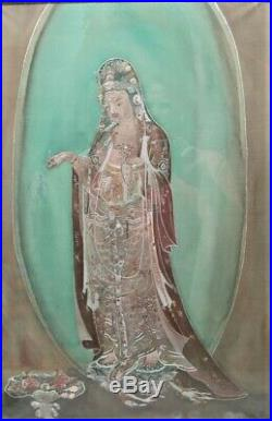Very Old IMPERIAL Quality CHINESE Gold Silk Thread Embroidery Pre-1850 antique