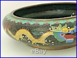 Vintage Chinese Cloisonne Buddhist Utensil Five Dragons Imperial Alms Bowl