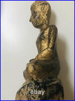 Vintage Chinese Imperial Gilt-lacquered Wood Figure Of A Buddha Shimma