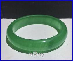 Vintage Imperial Emerald Green Jadeite Translucent Hard Jade Bangle