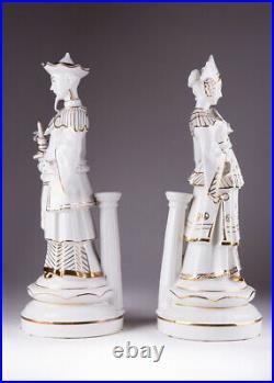 Vintage Rare Germany Original Pair Figurine Chinese imperial Neutettau Marked