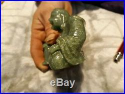 Vintage grade A Imperial green Jade Buddha 352 Grams