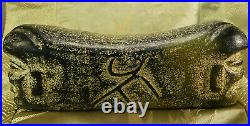 X-RARE Chinese Imperial Jade Pillow with2 Souls + Immortality Inscription-3000 BC