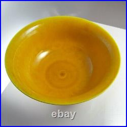 Yongzheng Dragon Bowl Yellow Glaze Imperial Chinese Five Claw Dragon Qing 18th C